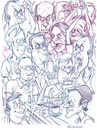 Cartoon: Angry Crowd (small) by Cartoons and Illustrations by Jim McDermott tagged angry,crowd,sketch