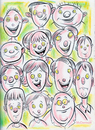 Cartoon: Cartoon Faces (small) by Cartoons and Illustrations by Jim McDermott tagged faces,sketchbook