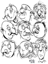 Cartoon: Faces 2 (small) by Cartoons and Illustrations by Jim McDermott tagged faces,sketchbook