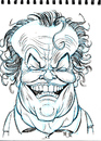 Cartoon: Jack Nicholson (small) by Cartoons and Illustrations by Jim McDermott tagged jacknicholson,caricatures
