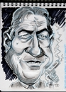 Cartoon: Robert De Niro (small) by Cartoons and Illustrations by Jim McDermott tagged movies actor action caricatures