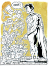 Cartoon: Supermans Pee (small) by Cartoons and Illustrations by Jim McDermott tagged superman,comics,heros,bathroom