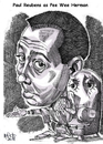 Cartoon: The Pee Wee Hermon Show (small) by Cartoons and Illustrations by Jim McDermott tagged peeweeherman tvshow actor caricatures