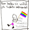 Cartoon: Nazimethoden (small) by hartabersair tagged neonazis,nazis,homosexualität