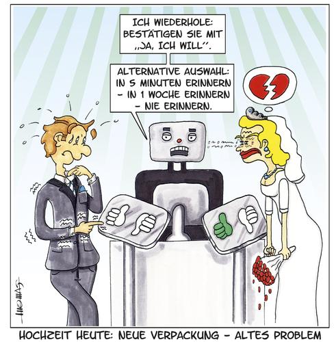 Cartoon das alte problem medium by thomas novotny tagged hochzeit
