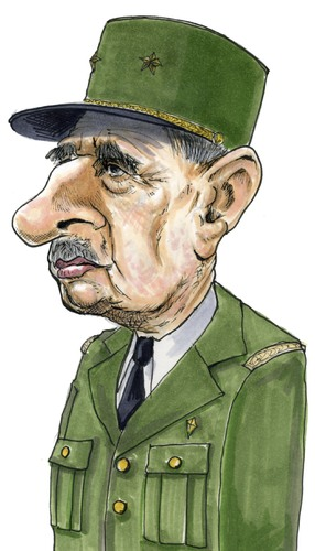 Cartoon: General Charles de Gaulle (medium) by jean gouders cartoons tagged de,gaulle,jean,gouders