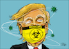 Cartoon: bio hazard (small) by jean gouders cartoons tagged trump,corona,usa,crisis