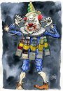Cartoon: exploding clown (small) by jean gouders cartoons tagged colour,jean,gouders,clown