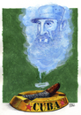 Cartoon: Fidel (small) by jean gouders cartoons tagged fidel,castro,cuba,jean,gouders