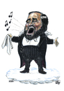 Cartoon: Luciano Pavarotti (small) by jean gouders cartoons tagged opera,pavarotti,jean,gouders