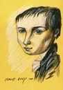 Cartoon: Heinrich Wilhelm von Kleist (small) by Otilia Bors tagged kleist