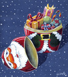 Cartoon: Merry Christmas (small) by lloyy tagged merry,christmas,santa,claus