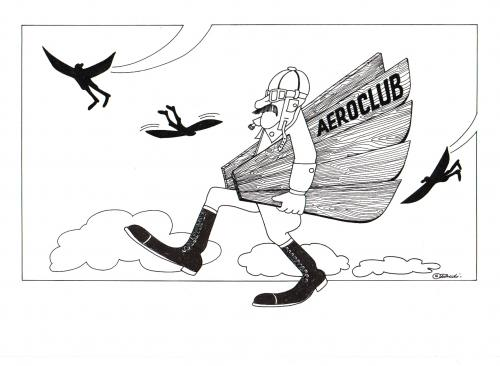 Cartoon: aeroclub (medium) by ruditoons tagged flieger,