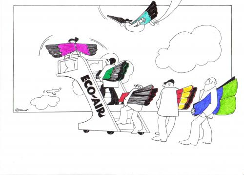 Cartoon: eco-air (medium) by ruditoons tagged fliegen,