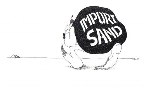 Cartoon: import sand (medium) by ruditoons tagged umwelt,