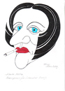 Cartoon: herta mueller (small) by ruditoons tagged literatur