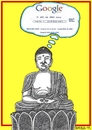 Cartoon: Connected (small) by srba tagged buddha,meditation,akasha,field