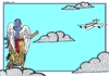 Cartoon: Hitchhiking (small) by srba tagged angel,airplane,clouds,hitchhiking