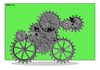 Cartoon: Spirit of  Lance Armstrong (small) by srba tagged lance,armstrong,pro,cyclist,cycling,bike,machine,mechanism,gears