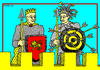 Cartoon: World Fools Day (small) by srba tagged april,fools,king,target,arrows