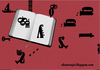 Cartoon: letras (small) by ANTRUEJO tagged letras,letters,book,libro