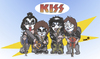 Cartoon: Kiss (small) by isacomics tagged isacomics,isa,comics,music