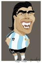 Cartoon: Carlos Tevez (small) by Bravemaina tagged carlos,tevez,argentine,soccer,football