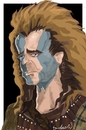 Cartoon: Mel Braveheart Gibson (small) by Bravemaina tagged braveheart,william,wallace,mel,gibson,scotland