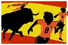 Cartoon: Running scared (small) by Bravemaina tagged spain,netherlands,soccer,football,world,cup
