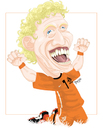 Cartoon: Dirk KUYT (small) by ELPEYSI tagged dirk kuyt holanda naranja mecanica