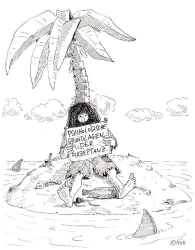 Flaschenpost von christian bob born philosophie cartoon for Koch englisch