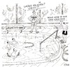 Cartoon: Aqua Fit (small) by Christian BOB Born tagged wasser,becken,gymnastik,kg,therapiebecken,schrumpfen,gruppe
