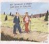 Cartoon: Is so! (small) by Christian BOB Born tagged sport,demenz,vergessen,nordicwalking