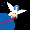 Cartoon: NASA - space communications (small) by fengai tagged nasa,space,communications,mail,post,cosmos