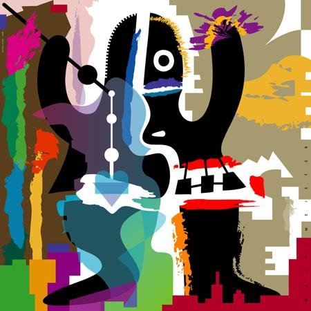 Cartoon: Mumbo Jumbo (medium) by constable tagged figure,creature,black,man,africa,wizard,color,graphic,wachtmeister