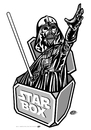 Cartoon: Darth in the Box (small) by elle62 tagged star,wars,fanart,trooper,scifi