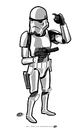 Cartoon: StormTrooper (small) by elle62 tagged star,wars,fanart,trooper,scifi