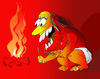 Cartoon: Fire!!! (small) by LAINO tagged fire stone age