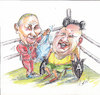 Cartoon: Playoffs (small) by Erki Evestus tagged russia,north,korea,playoffs,boxing