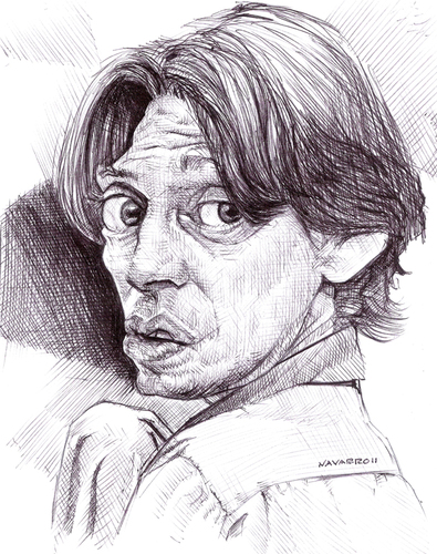 Cartoon: buscemi (medium) by salnavarro tagged biro,ballpoint,caricature,lebowsky,big,buschemi