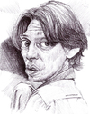 Cartoon: buscemi (small) by salnavarro tagged buschemi,big,lebowsky,caricature,ballpoint,biro