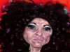 Cartoon: paloma negra (small) by salnavarro tagged finger,painted,caricature,araceli,collazo,paloma,negra