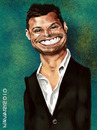Cartoon: Ryan Seacrest (small) by salnavarro tagged fingerpainted,caricature,ipad,seacrest,american,idol