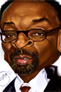 Cartoon: spike lee (small) by salnavarro tagged caricature,digital,finger,painted,spike,lee,another,joint