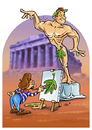 Cartoon: Piece of Art (small) by Stan Groenland tagged cartoon,art,design,painter,painting,model,nude,naked,man,hero,statue,portrait