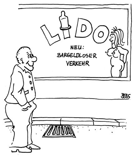 Cartoon: Bargeldloser Verkehr (medium) by besscartoon tagged prostitution,puff,geld,verkehr,bargeldlos,bess,besscartoon