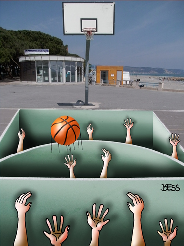Cartoon: Basketball (medium) by besscartoon tagged basketball,optische,täuschung,sport,ceriale,bess,besscartoon
