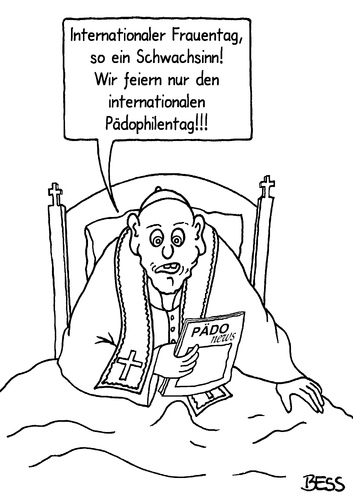 Cartoon: Festtage (medium) by besscartoon tagged kirche,religion,pfarrer,katholisch,internationaler,frauentag,pädophilie,pädophilentag,vatikan,bess,besscartoon