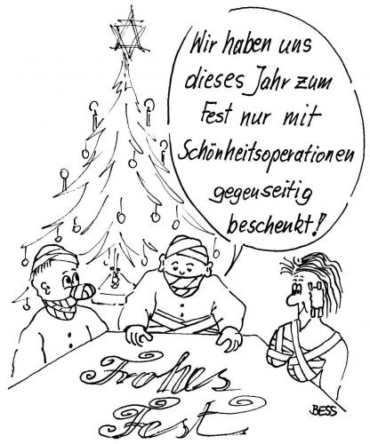 Cartoon: Frohes Fest (medium) by besscartoon tagged bess,fest,weihnachten,familie,kind,frau,mann,besscartoon