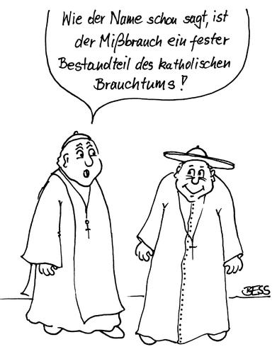 Cartoon: ohne Titel (medium) by besscartoon tagged religion,missbrauch,pfarrer,kirche,brauchtum,katholisch,bess,besscartoon